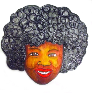 """""""Afro Cushion"""" by Unicia R. Buster"""