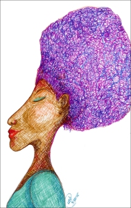 """Purple 'Fro Glow"" by Unicia R. Buster"