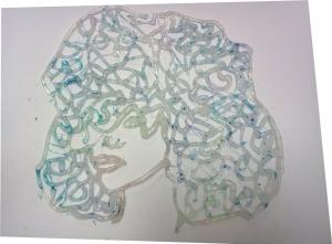 Glue stencil