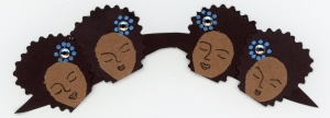 """Afro'd Ladies Mustache"" by Unicia R. Buster"