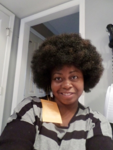 Selfie of me in an Afro wig