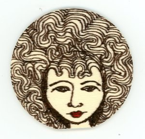 """""""Wooden Magnet Afro"""" by Unicia R. Buster"""