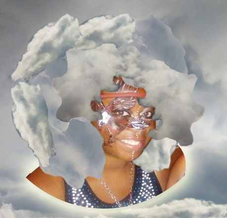"""In the Clouds Afro"" by Unicia R. Buster"